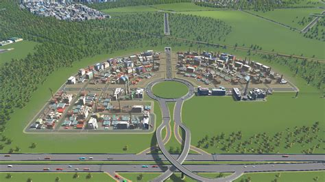 Industrial zone layout