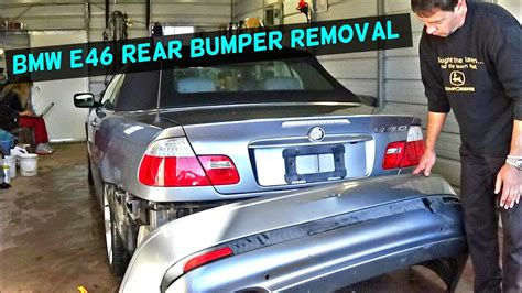 BMW E46 REAR BUMPER COVER REMOVAL REPLACEMENT - YouTube