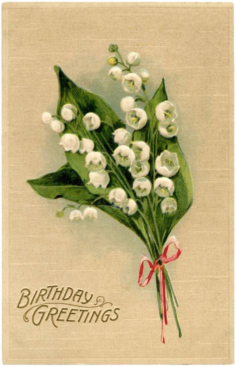 Lily of the Valley Birthday Card! - The Graphics Fairy