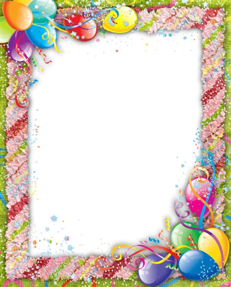 Transparent Birthday PNG Frame | Gallery Yopriceville