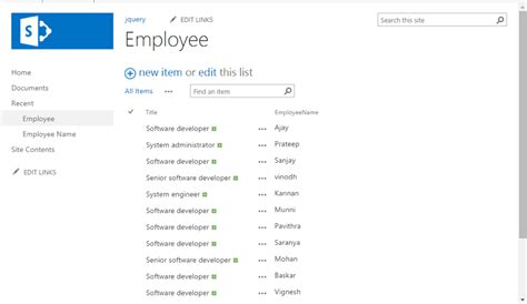 Using jQuery DataTable In SharePoint 2013