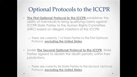 Intro to the International Covenant on Civil & Political
