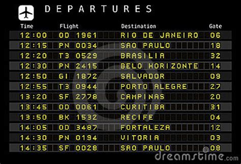 Airport Schedule - Brazil Royalty Free Stock Photography