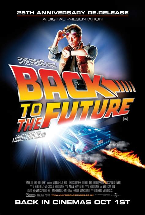 Movie Poster For the UK Re-Release Of 'Back To The Future