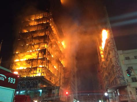 Sao Paulo high rise collapses after fire; at least 1 dead