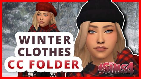 WINTER CLOTHES PACK FEMALE- CC FOLDER The Sims 4: MODS