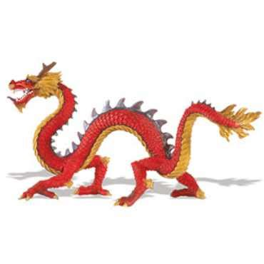 Chinese Red Dragon Toy Serpentine Miniature at Animal World®
