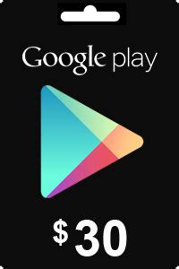 Cheapest Google Play Gift Card 30 USD Codes in USA
