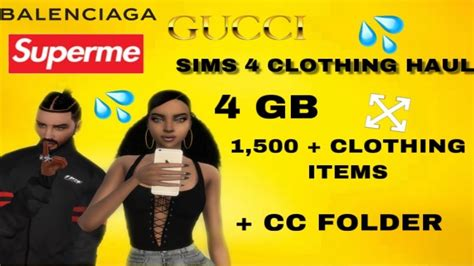 SIMS 4 HUGE CLOTHING HAUL + CC FOLDER DOWNLOAD| 1500 ITEMS