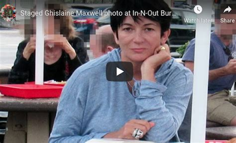 Staged Ghislaine Maxwell In-N-Out Burger PHOTO & HER