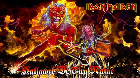 iron maiden hallowed be thy name wallpaper hd by