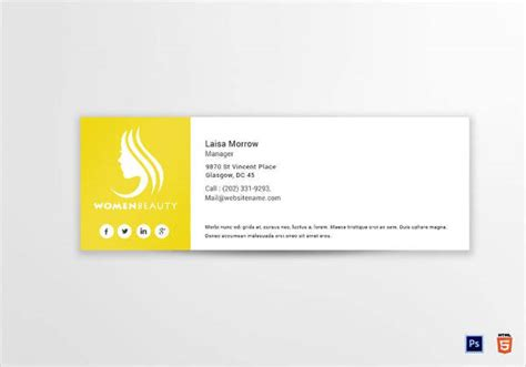 9+ Business Manager Email Signature Designs & Examples