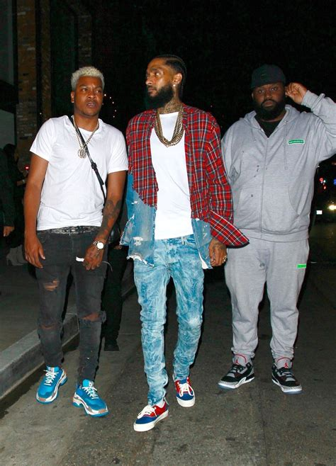 Rapper Nipsey Hussle was spotted out at a nightclub