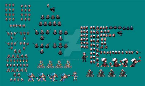 Ruby And Sapphire Sprites by omegazeke08013 on DeviantArt