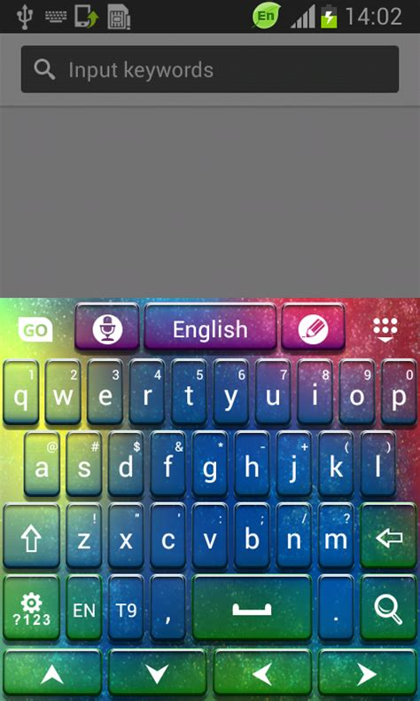 GO Keyboard Color HD Android App - Free APK by T-Me Themes