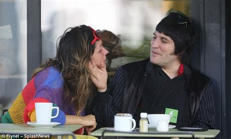 Noel Fielding cosies up to baby son before gazing at