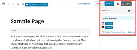 Creating a multilingual website with WordPress
