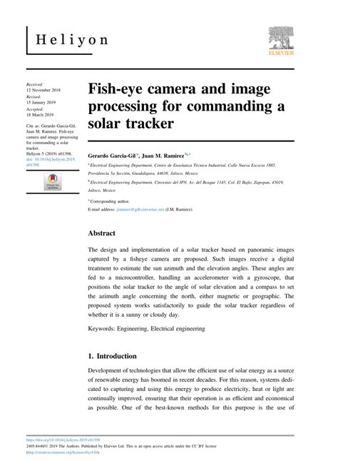 (PDF) Fish-eye camera and image processing for commanding
