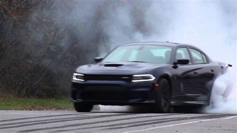 2015 Dodge Charger Hellcat Burnout - YouTube