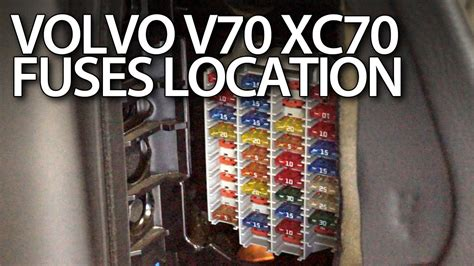 Volvo V70 XC70 fuses and relays location - YouTube