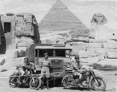 British Military Motorcycles Egypt, WWII