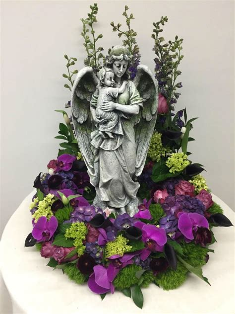 Guardian Angel Holding Child In Purple and Greens | Judy's