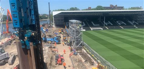 Sheet pile specialists support Fulham FC's Riverside Stand