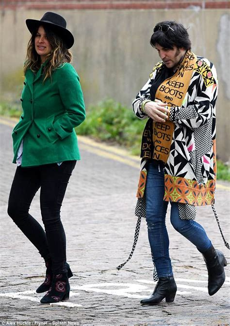 Noel Fielding and Lliana Bird step out with their new baby