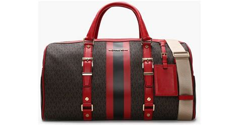 Michael Kors Canvas Large Bedford Travel Brown & Bright