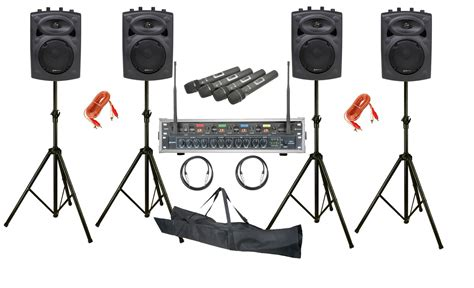 Astounded Mobile Conference 4 Speaker PA System With Quad