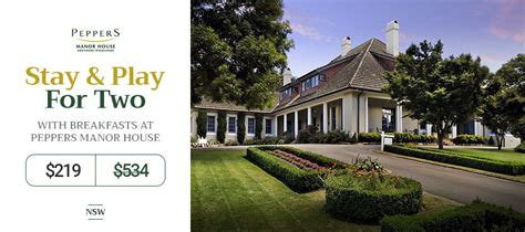 Golf Getaway For Two With Breakfasts at Peppers Manor