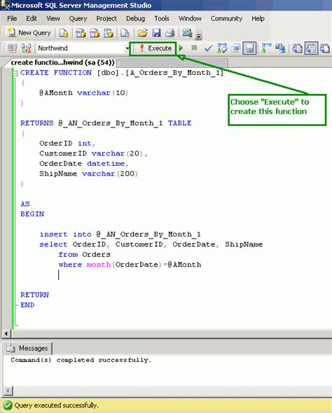 sharing: Create Function with Return Table in SQL Server